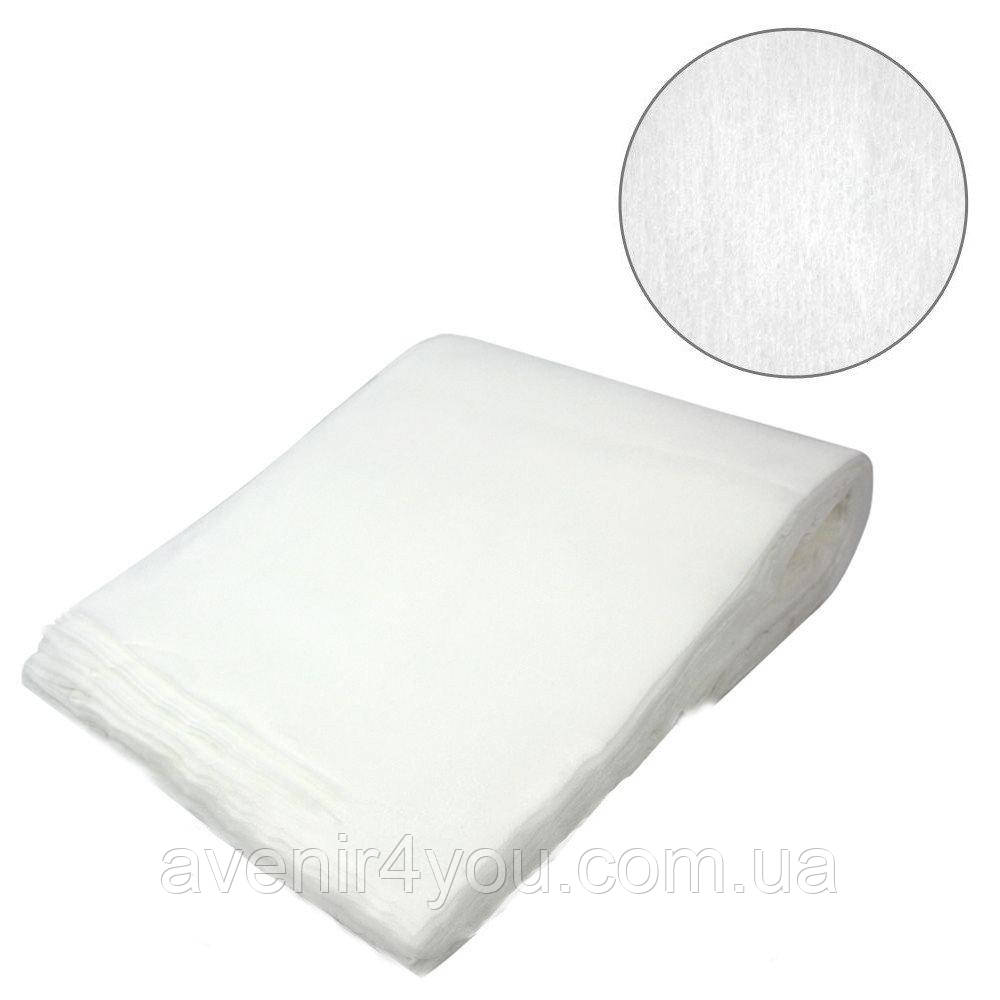 Полотенце одноразовое нарезное 35х70 (50 шт) белые гладкие, плотность 40 г/м