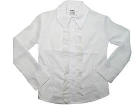 Рубашка нарядная белая для девочек опт, размеры 134,140,152,158,164, арт. 5567
