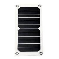 Сонячна Панель, гнучка, для заряджання смартфон, павербанк, ліхтар, мобільний гаджет. Вихід USB 5 В 10 Вт, фото 1