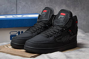 Зимние ботинки  на меху FILA Turismo, черные (30356) размеры в наличии ► [  42 (последняя пара)  ]