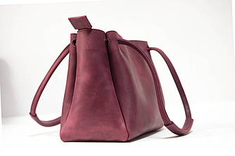 """Женская сумка """"Азия"""" Винтажная кожа цвет Бордо"""