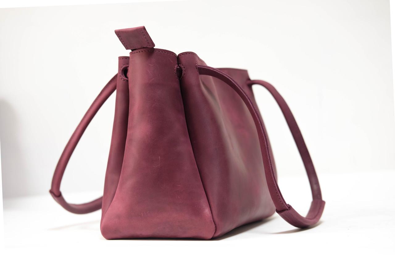 """Женская сумка """"Модель №31"""" Винтажная кожа цвет Бордо"""