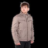 Мужская осенняя куртка Geox 0579 светло-серого цвета