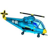 Фольгированный шар Вертолет 57см х 96см Голубой