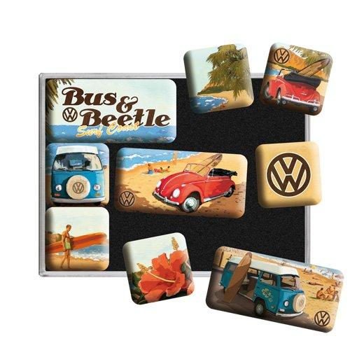 Набор из 9 магнитов Nostalgic-Art VW Beach (83053)