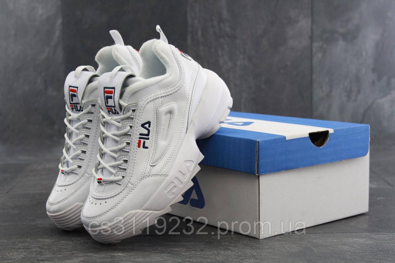 Мужские кроссовки Fila Disruptor  (белые)