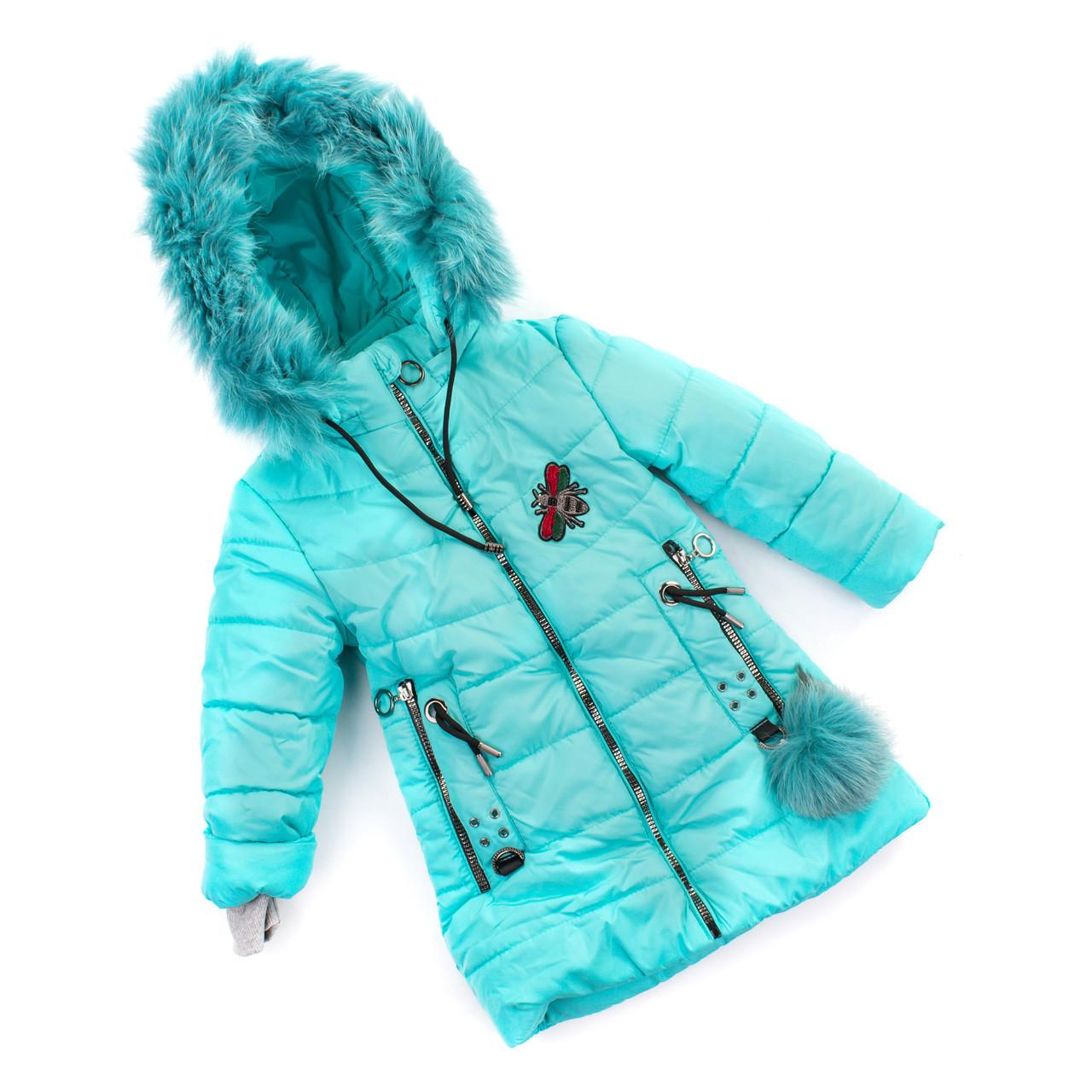Детское зимние пальто для девочки  от производителя 28-36  бирюза