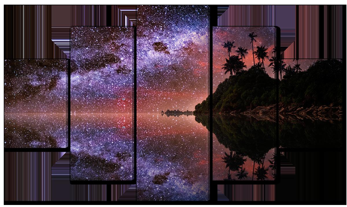 Модульная картина Interno Эко кожа Остров и звезды 108х60см (A1562S)