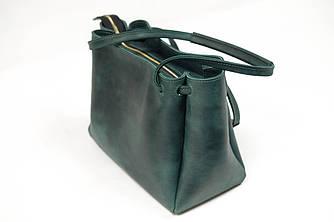 """Женская сумка """"Азия"""" Винтажная кожа цвет Зеленый"""