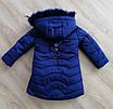 Зимняя курточка для девочки натуральным мехом  28-36 бирюза, фото 6