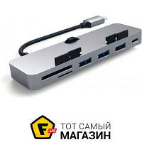USB-хаб Satechi Aluminum Type-C Clamp Hub Pro, Space Gray (ST-TCIMHM)