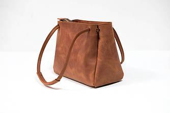 """Женская сумка """"Модель №31"""" Винтажная кожа цвет Коньяк"""