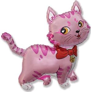 Фольгированный шар  SWEET CAT Фуксия