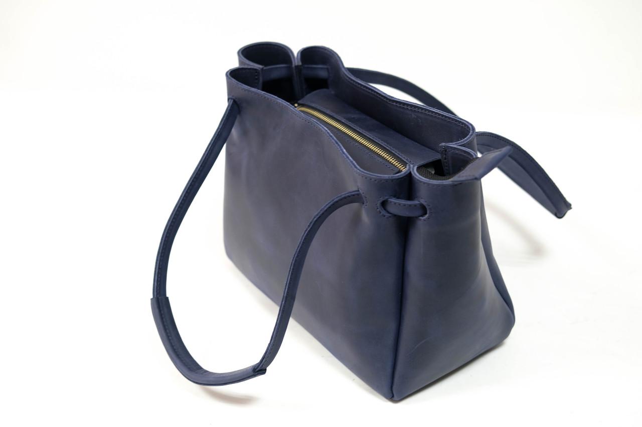 """Женская сумка """"Модель №31"""" Винтажная кожа цвет Синий"""