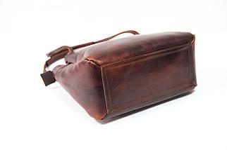Сумка женская. Кожаная сумочка Азия Кожа Итальянский краст цвет Вишня, фото 3