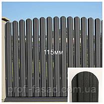 Штакетник матовый 2х ст. 3005 105мм 115мм евроштакетник штакет, фото 2