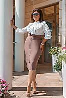ЖІночий батальний  костюм :спідниця і блуза . Р-ри  50-56, фото 1