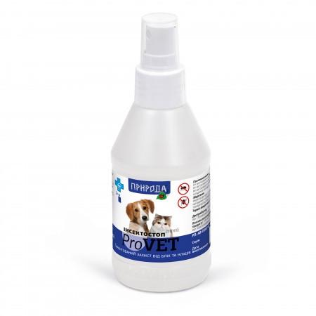 Инсектостоп  ProVET спрей а/б 100 мл для взрослых собак и кошек