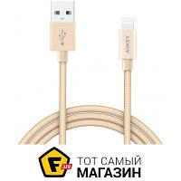 Кабель usb 2.0 тип a, apple lightning 1.2 Aukey CB-D16 Lightning to USB 1.2м, gold (LLTS144483)