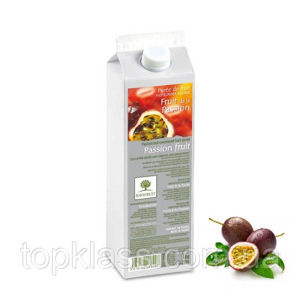 Маракуйя пюре пастеризованое 90% 1л, Ravifruit Франція