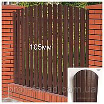 Штакетник Дуб 3Д Корея 105мм 115мм евроштакетник штакет, фото 2