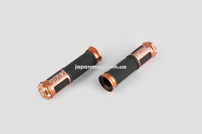 Ручки руля с алюм. отбойником (бронзовые) (mod:Suzuki) , фото 2