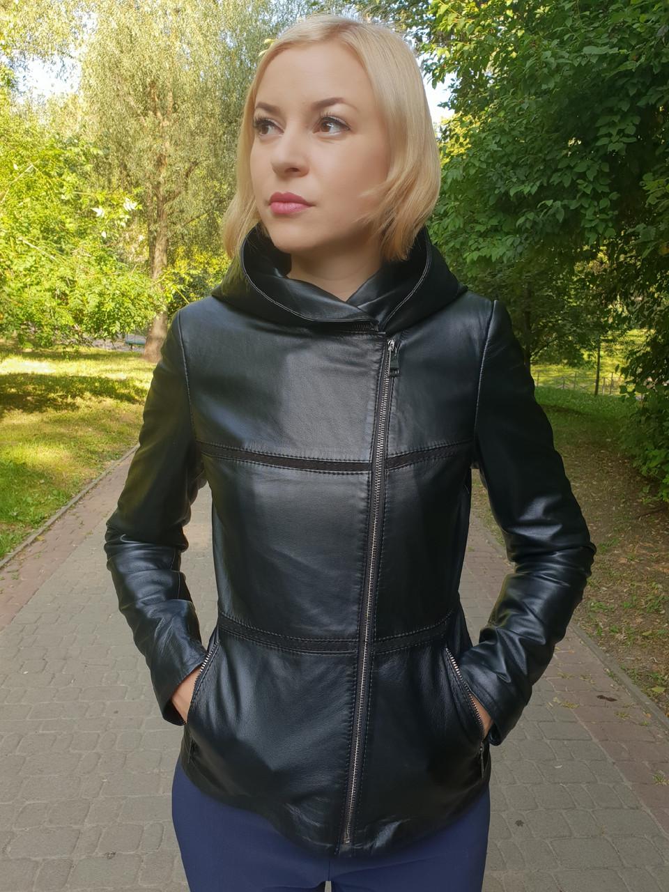 Женская кожаная куртка-трансформер