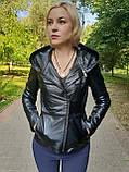 Женская кожаная куртка-трансформер, фото 2