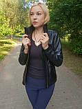 Женская кожаная куртка-трансформер, фото 7