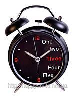 Креативные часы - 1, 2,3 ... черные / подарок секретарю, подарок в офис