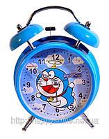 Часы с будильником на батарейках - Дораэмон - подарок для ребенка