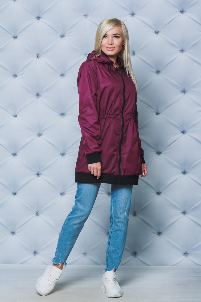 Куртка удлиненная весна/осень бордо