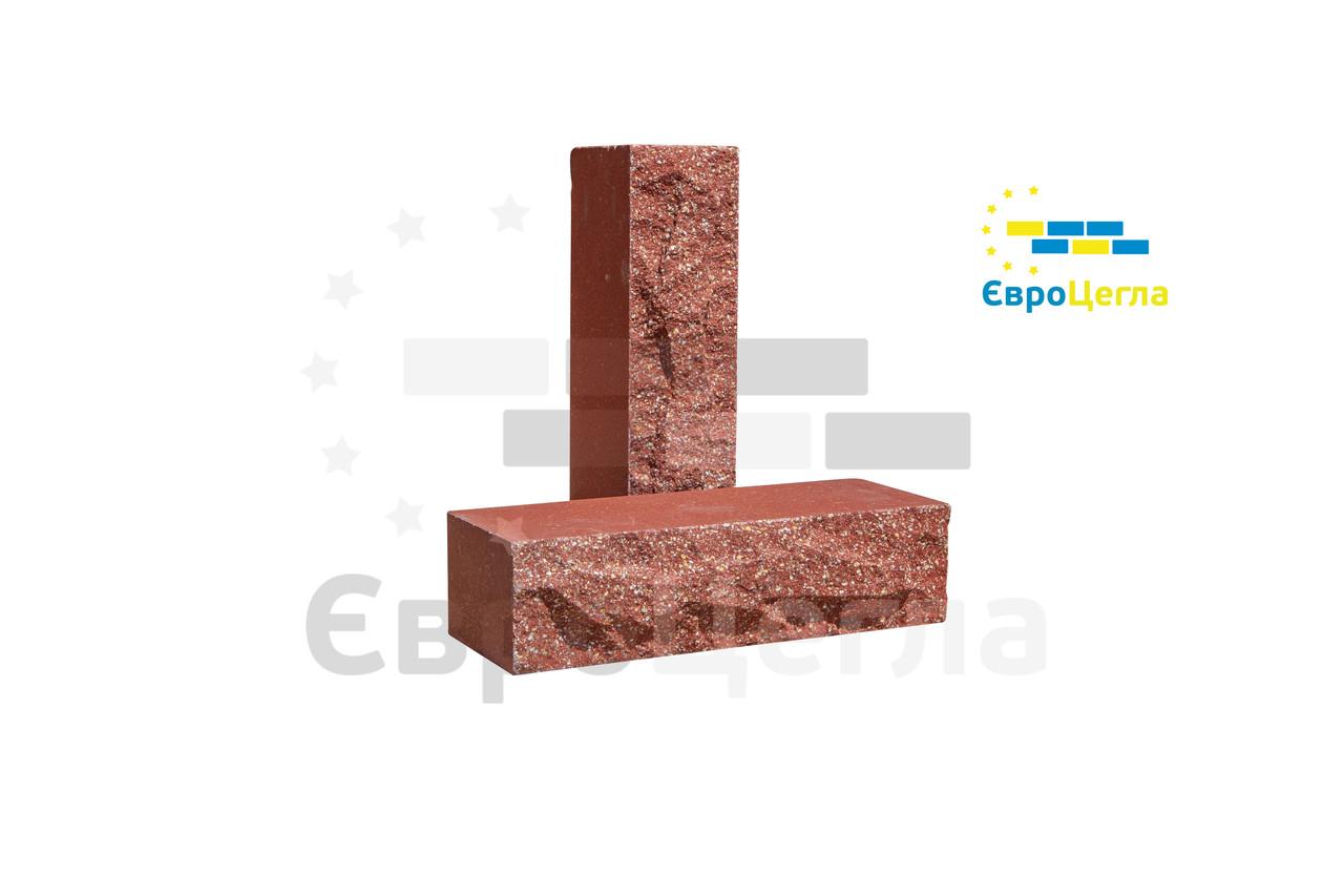 Облицовочный кирпич Евроцегла скала ложковой красный