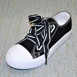 Темные кеды на широких шнурках, размер 36 37 38 39 40
