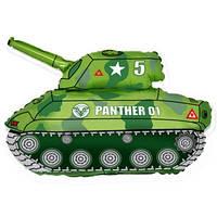 Фольгированный шар Танк 65см х 80см Зеленый