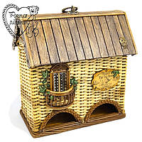 Плетений чайний будиночок для кухні, подвійний. Ручна робота