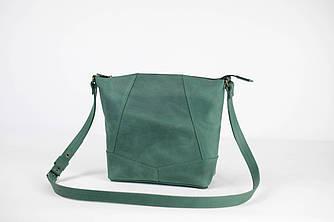 """Женская сумка шоппер """"Модель №32"""" Винтажная кожа цвет Зеленый"""