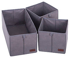 Набор коробочек для дома Organize Khy серый R176394