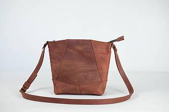 """Женская сумка шоппер """"Модель №32"""" Винтажная кожа цвет Коньяк"""