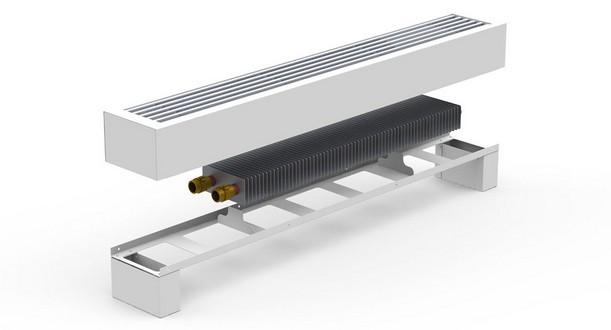 Конвектор напольный FRH-500 RAL9735 с решеткой RAL9005_STX* Carrera