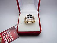 Золотая печатка, кольцо, перстень размер 18