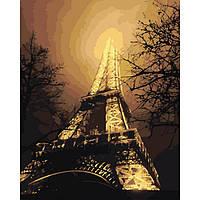 """Картины по номерам -Міський пейзаж """"У барвах нічного міста"""" 40х50см"""