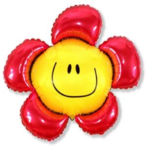 Фольгированный шар Цветочек 88см х 104см Красный