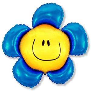 Фольгированный шар Цветочек 88см х 104см Синий