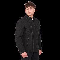 Мужская стеганая куртка Zara черного цвета