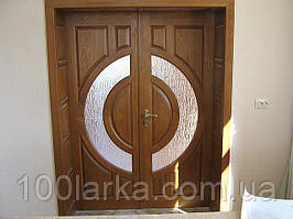 Двустворчатые двери деревянные(ясень) М-22  Киев