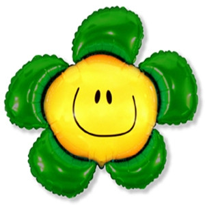 Фольгированный шар Цветочек 88см х 104см Зеленый