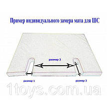 Гимнастический мат для шведской стенки 120х100х5 см, фото 2