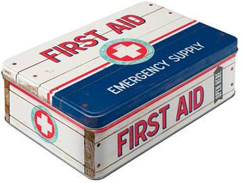 Коробка для хранения Nostalgic-Art First Aid Blue - Emergency Supply (30721)