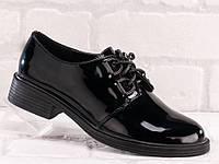 Туфлі жіночі лакові, чорні. Офіс, школа